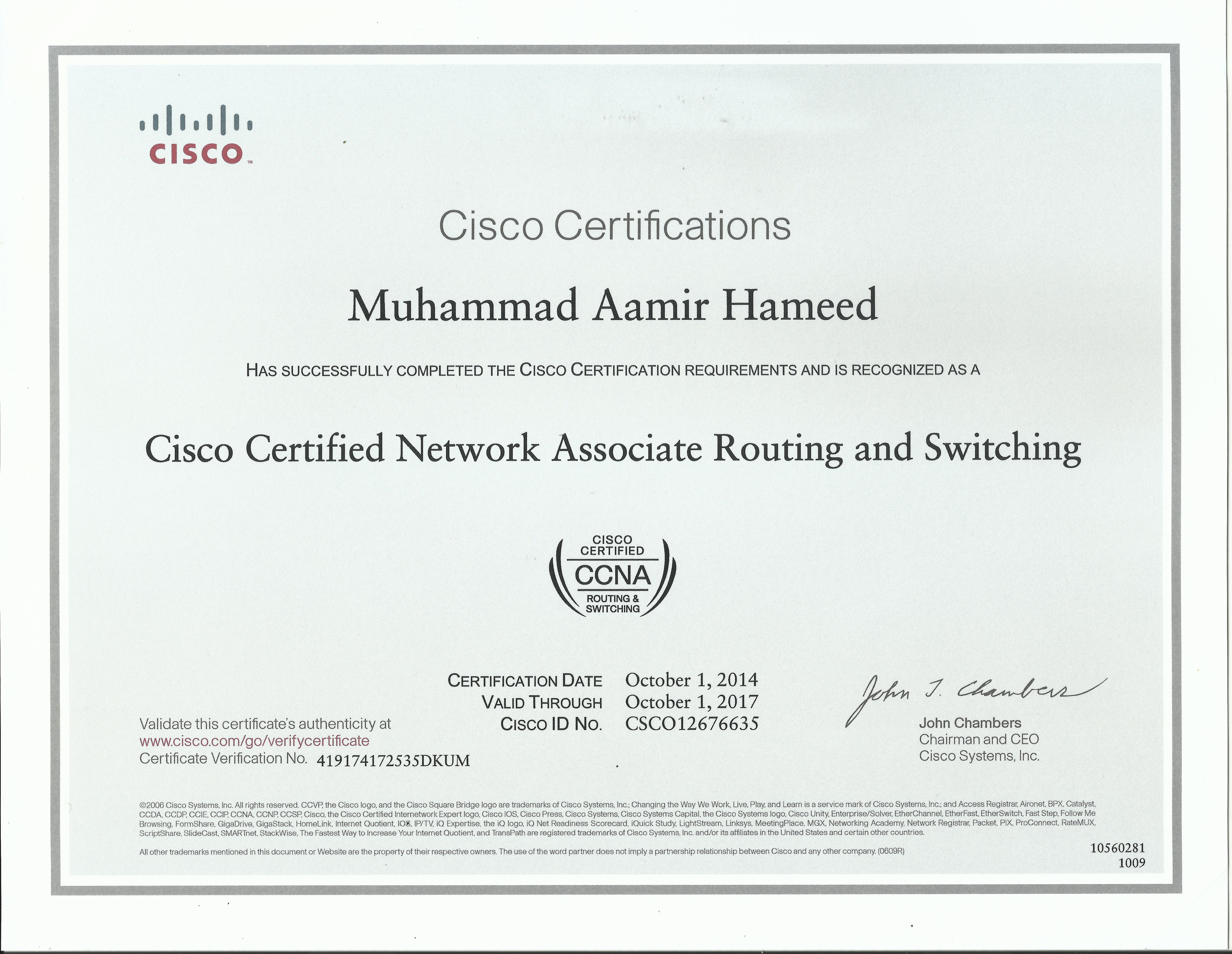 Certified | CCNA in Faisalabad