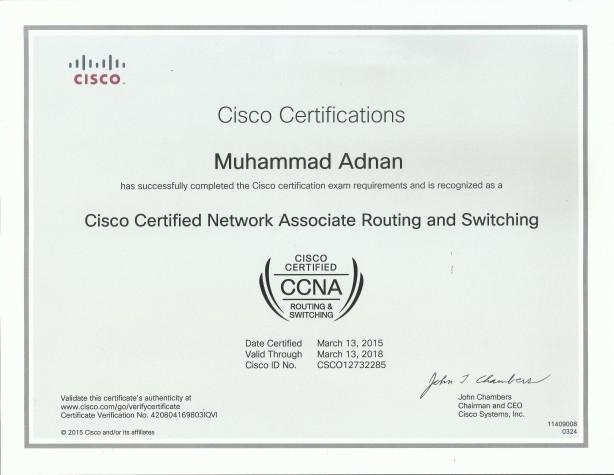 Muhammad Adnan Certificate