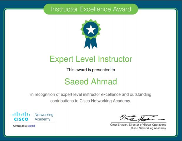 Cisco Expert Award 2018