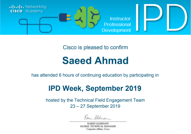 IDP Sep 2019 Certificate