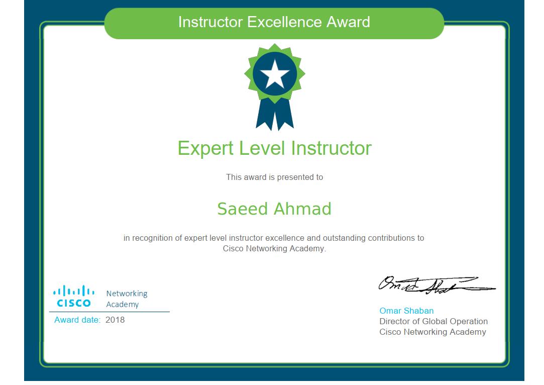 Expert Level 2018