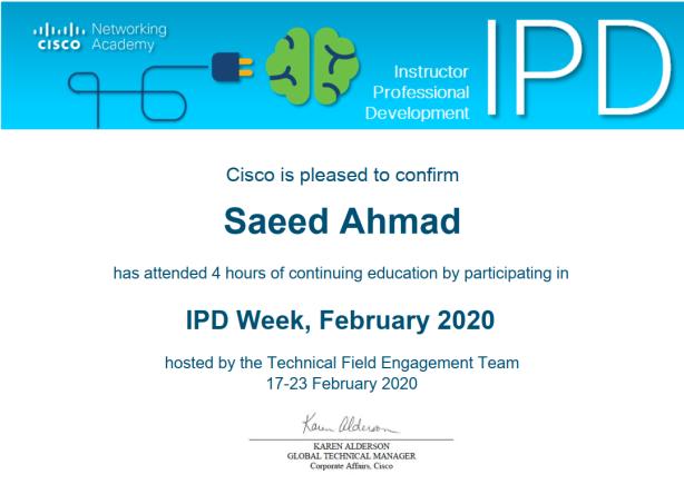 IPD Week, February 2020